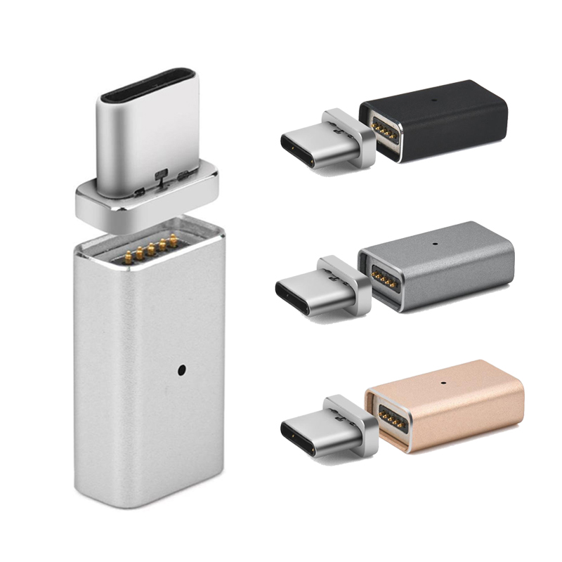 871406fe7e79 Type-C Magnetic Adapter Micro USB Female to Type C Male Charger Converter  for SAMSUNG