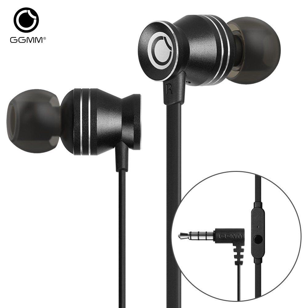 GGMM C300 Earphone for Phone Headset Earbuds Noise Cancelling In-ear Earphone Headset Natural Sound Bass Wired Earphone Gaming ggmm nightingale earphone for phone headset in ear metal earphone with mic bass stereo wired earphone gaming earbuds headset