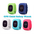 Los niños kid anti-perdida smart watch gsm gprs gps reloj localizador niño guardia para ios android reloj q50 gsm marca