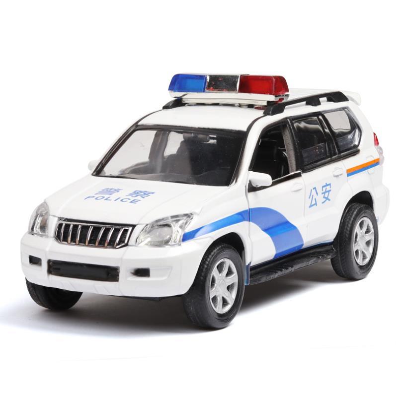 1:32 Toy Car PRADO Police Model Car Metal Toy Alloy Car Diecasts & Toy Vehicles Car Light Sound  Model Toy For Children