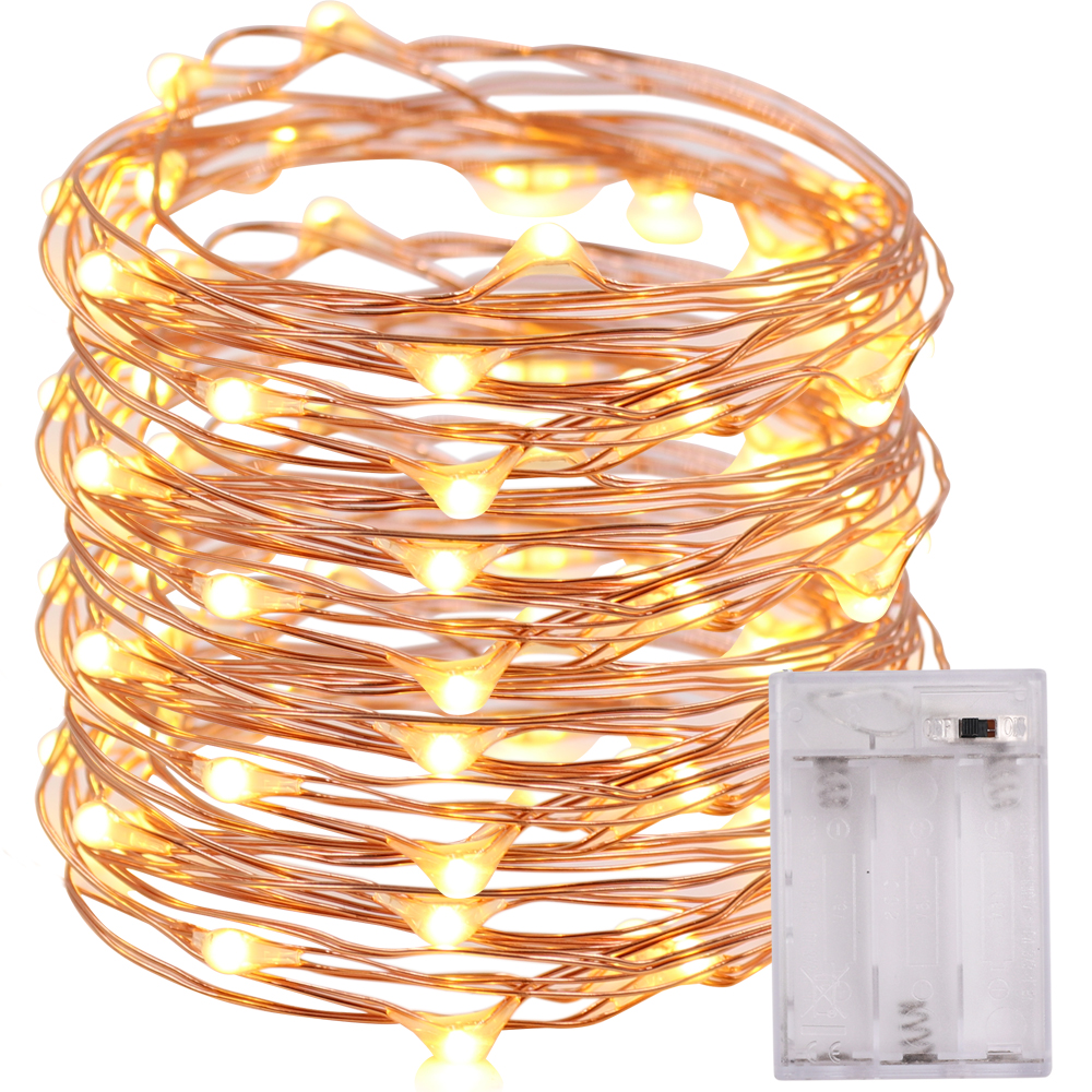 Battery Powered LED Starry String Lights Copper Wire Fairy Micro LEDs 2m For Party Christmas Wedding NKD New Arrival