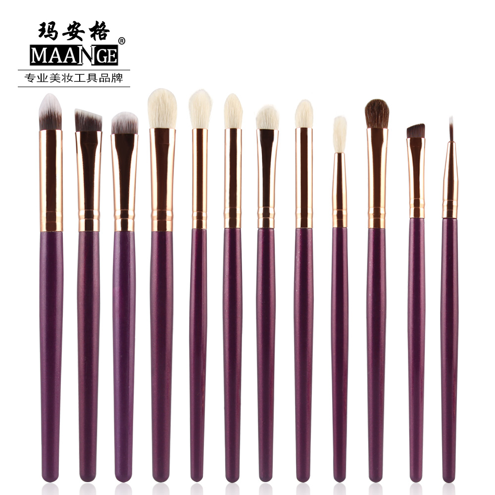 12 Pcs/set Makeup Cosmetic Beauty Kits Eye Shadow Foundation Eyebrow Lip Brush Makeup Brushes Set Tools High Quality Brush Set 20 pcs set makeup brushes set eye shadow foundation eyeliner eyebrow lip brush cosmetics tools kits beauty make up brush 2017