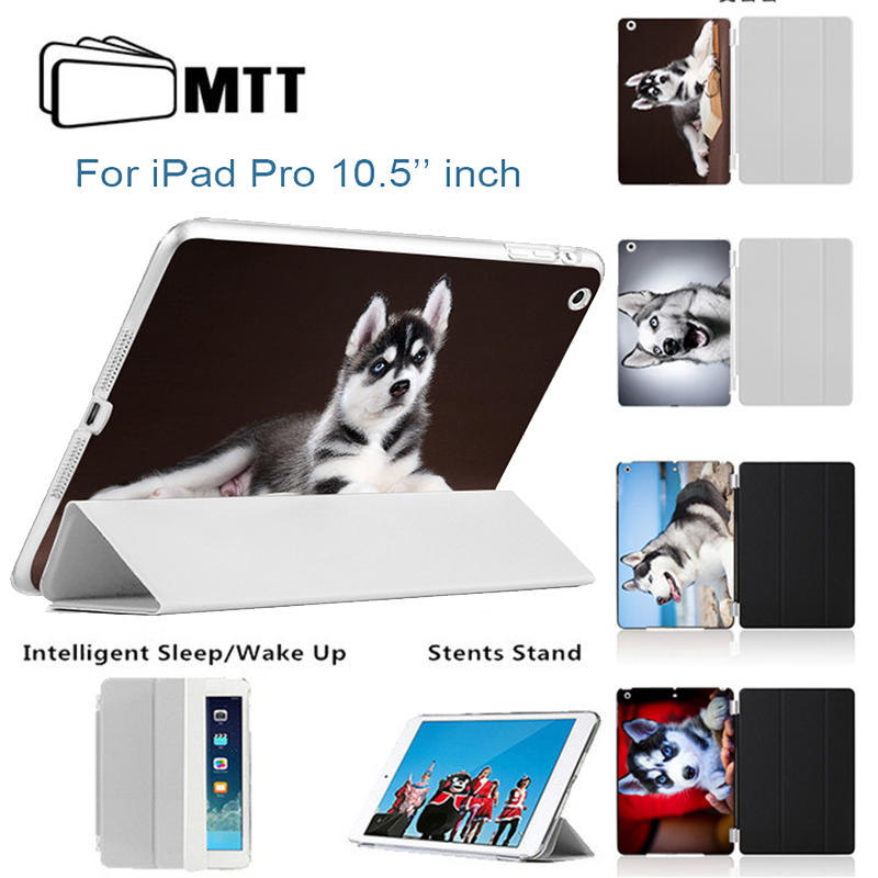 MTT SIBERIAN HUSKY Tablet Shell for iPad Pro 10.5 inch Case PU Leather Slim Smart Cover For Apple iPad 10. 5 Pro inch 2017 New surehin cover for apple ipad pro 10 5 case inch thin slim smart leather tpu soft back silicone case for ipad pro 10 5 cover skin