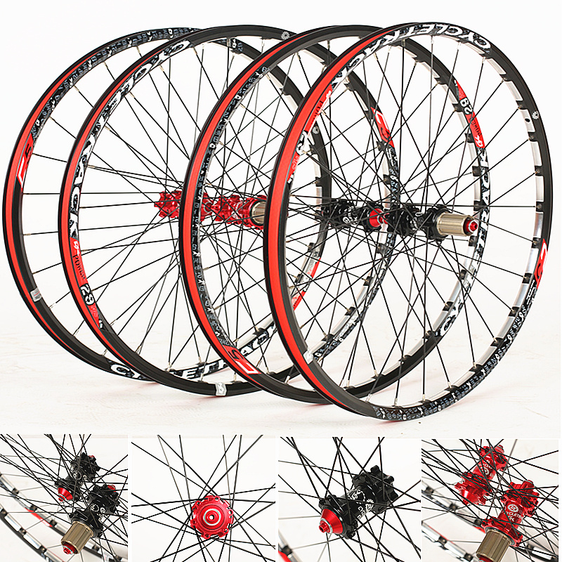 Bicycle Wheel 29 inch MTB 28 Holes 6061 aluminum alloy CNC Disc brake wheels 4 bearing wheels 8/9/10/11 Speed Bicycle Parts