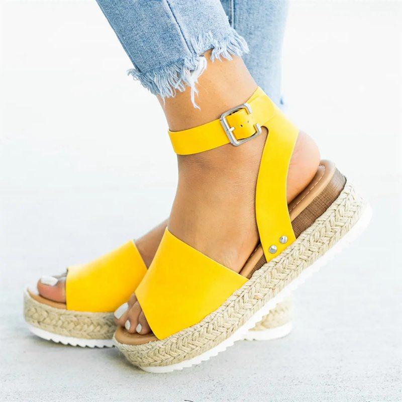 Wedges Shoes Platform Sandals High-Heels Women Summer Flip Flop Chaussures