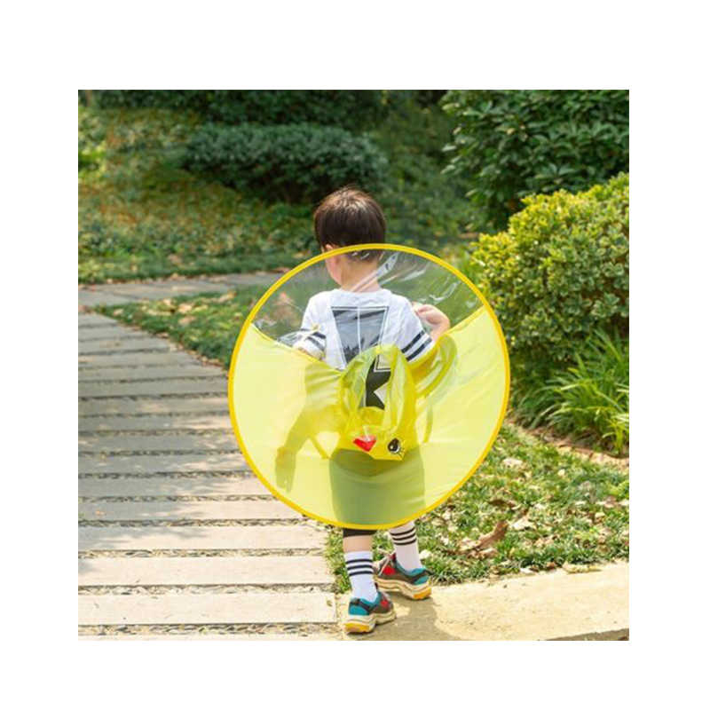 480f218b5fd4d ... Creative Children Adult Animation UFO Umbrella Sleeveles Hat Raincoat  Hat Umbrella Yellow Duck Flying Saucer Raincoat ...