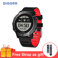 Diggro DI08 GPS Smart Watch IP68 Waterproof Fitness Tracker Multiple Sport Modes Heart Rate Monitor Smartwatch