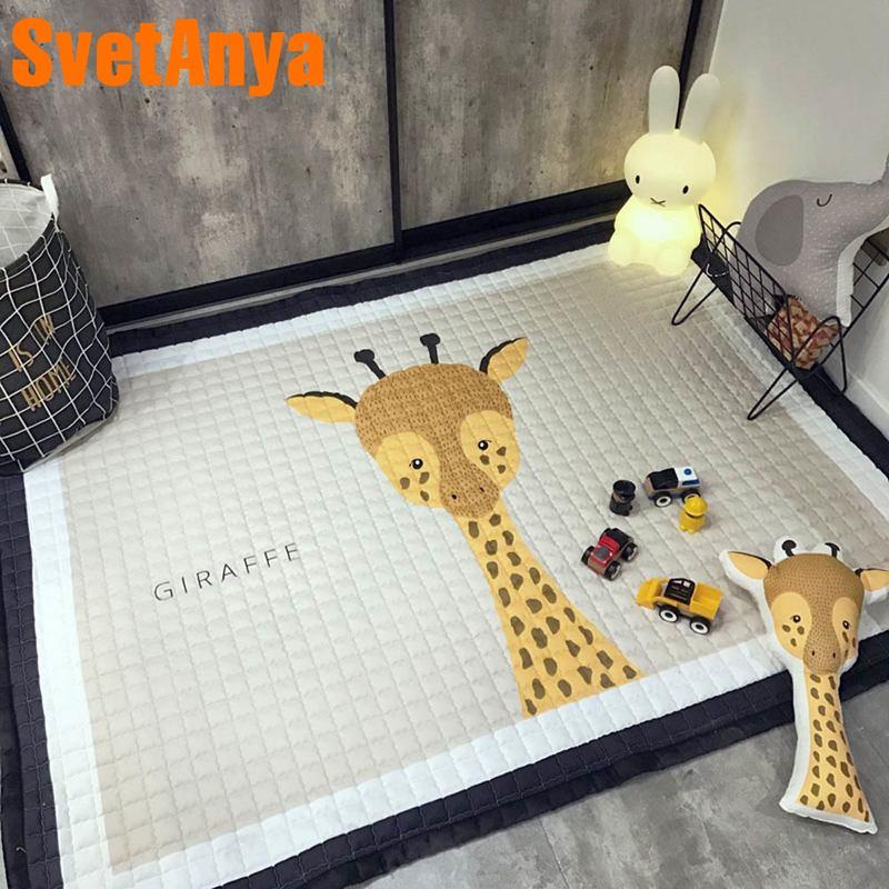 Svetanya tapis anti-dérapant enfants plancher chambre bébé ramper tapis 57x76x0.6