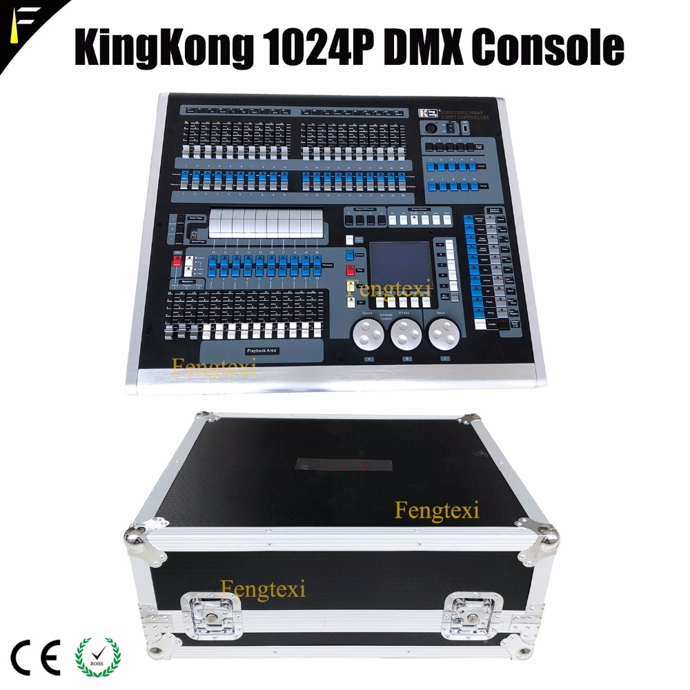 Original KingKong Creator Controller 1024P DMX512 With Flight Case English Manual Operation 1024Plus Creator Console Fr Big Show