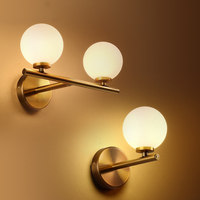 simple modern style wall lamps loft vintage double long arm wall lamp lamparas de pared adjustable Handle Metal gold wall Light