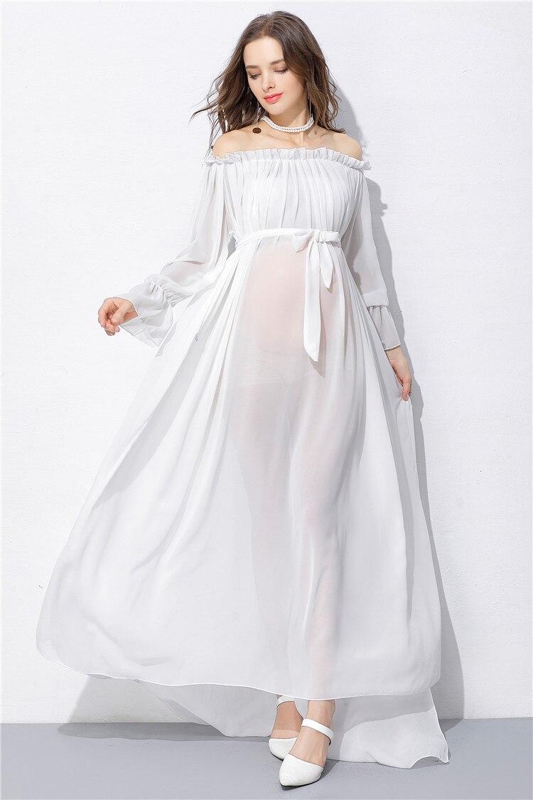 Plus Size Maternity Dresses White | Saddha