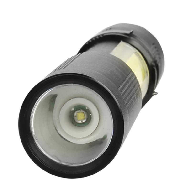 Litwod Z401510 XP-G Q5 + COB LED MINI Lanterna Com Zoom À Prova D' Água de Alumínio 4 Modos Torch use AAA Bateria Para Camping trabalhando