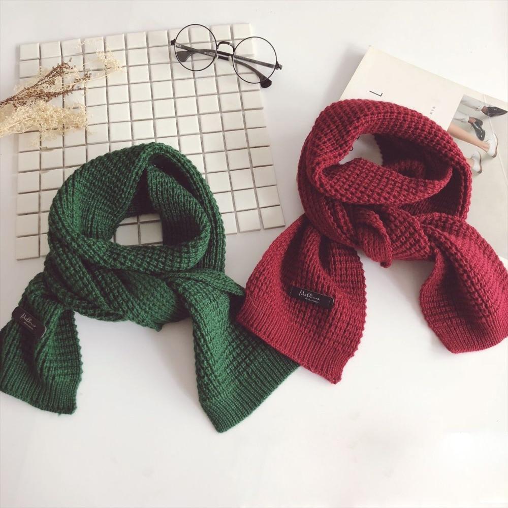Brave Autumn Winter Designer Brand Kids Scarf Red Green Knit Warm Scarves Soft Skin Long Muffler Children's Scarf Collar Boy & Girl Easy To Use