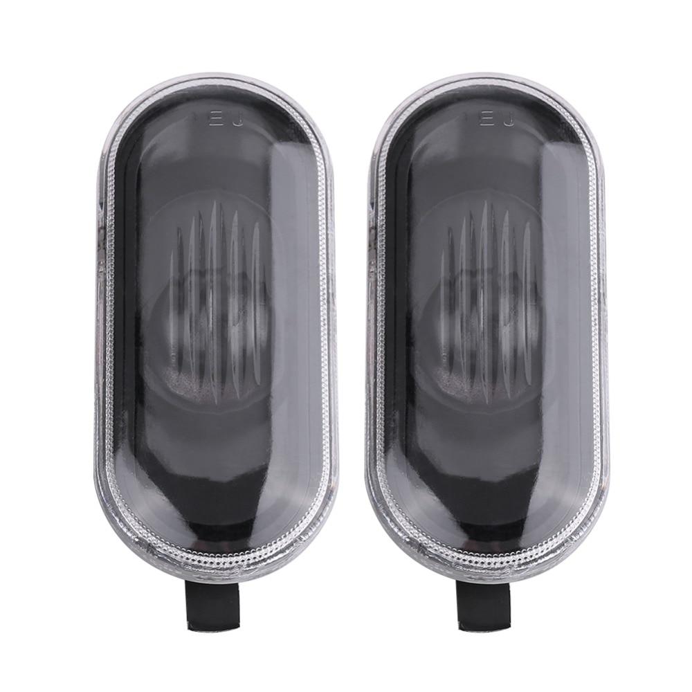 1 Pair Side Marker Light Cover Shell Housing Cover For VW Golf Jetta Bora MK4 Passat B5 B5.5 Black Lens Car Styling