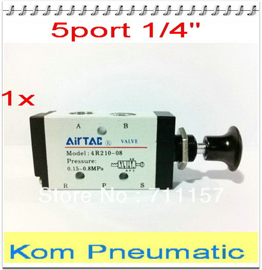 1 8 Manual Pull Air Valve : Kom pneumatic push pull valve quot bspt port hand