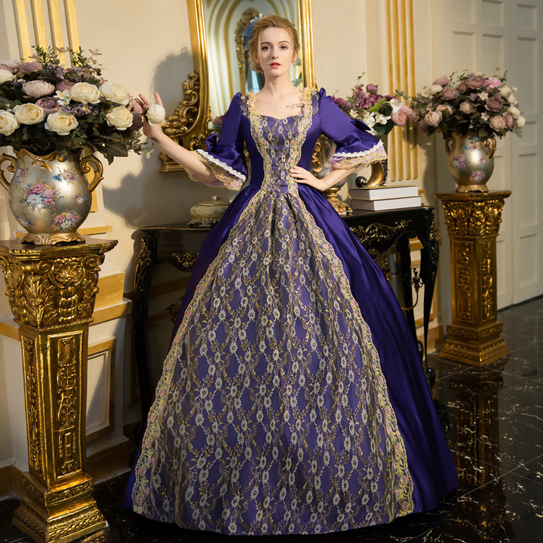 HOT Sale Rococo Dress  Women's Medieval Renaissance Gothic Victorian Dresses Marie Antoinette Stage Party