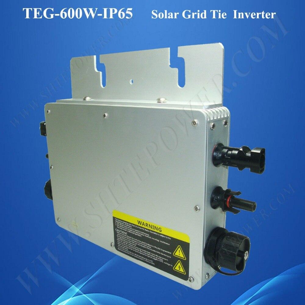 TEG-600W-IP65 waterproof function 24v to 120v 600w grid tie micro solar inverter сетевая карта trendnet teg ecsx teg ecsx