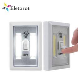 Magnetic COB LED Switch Wall Night Lights Cordless Lamp Battery Operated Cabinet Garage Closet Camping Emergency Light