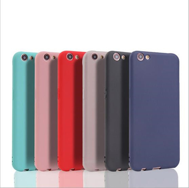 official photos 43fd7 4872d US $1.69 |Solid Candy Color TPU Rubber Case Cover For OPPO F1s Silicon Case  Back Cover For OPPO F1s Cover-in Half-wrapped Case from Cellphones & ...