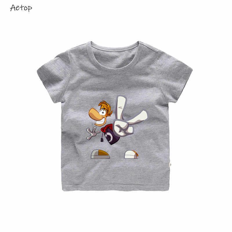 男の子または女の子の漫画 tシャツ Rayman は伝説冒険ゲームプリント Tシャツ子供おかしい服子供マルチカラー t シャツ、 b221