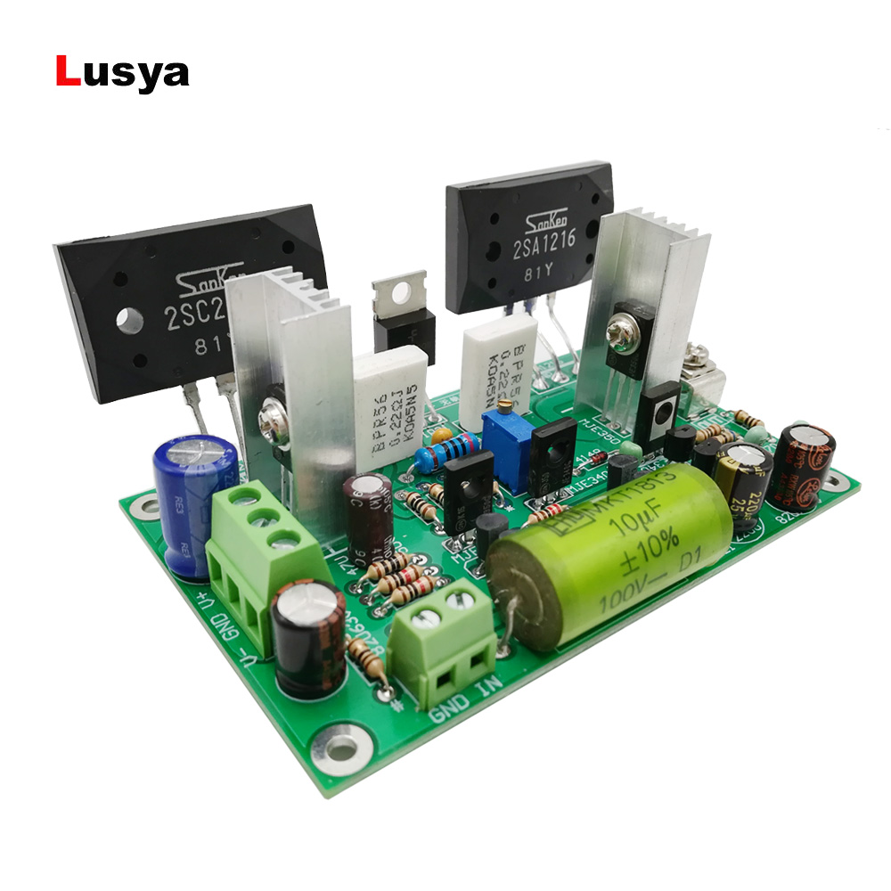 2SC2922/2SA1216 Amplifier Board Large Current Field Effect Tube Stereo Fever Class Discrete power amplifier board T0476