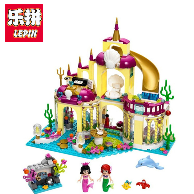 Lepin Princess Undersea Palace Girl Friends Building Blocks 402pcs Bricks Toys For Children Compatible With Legoingly Friends new undersea palace building blocks set 400pcs bricks toys for girls compatible with lego princess toys block girls toy gift