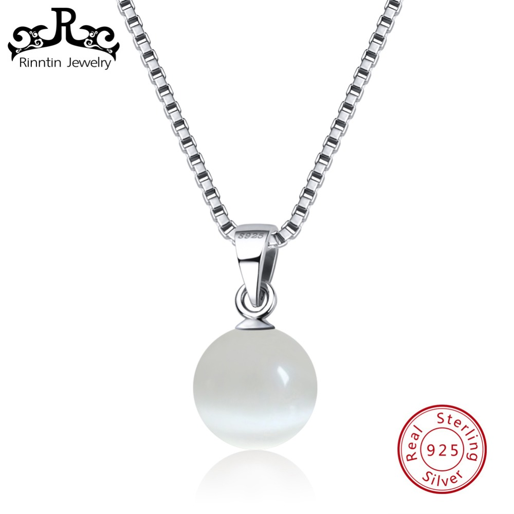 Rinntin Real 925 Sterling Silver Women Pendants & Necklaces Cats Eye Stone Female Pendant Fine Jewelry Anniversary Gift TSN87-WRinntin Real 925 Sterling Silver Women Pendants & Necklaces Cats Eye Stone Female Pendant Fine Jewelry Anniversary Gift TSN87-W