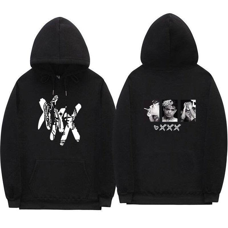 Xxxtentacion venganza sudaderas con capucha de los hombres mujeres  sudaderas rapero Hip Hop Sudadera con ef76ba9e65a