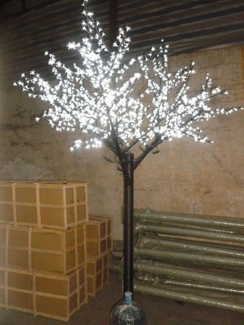 2M 6.6ft LED Cherry Blossom Tree Outdoor Indoor Christmas Wedding Garden Holiday Light Decor 1000LEDs waterproof 7 Colors option цена