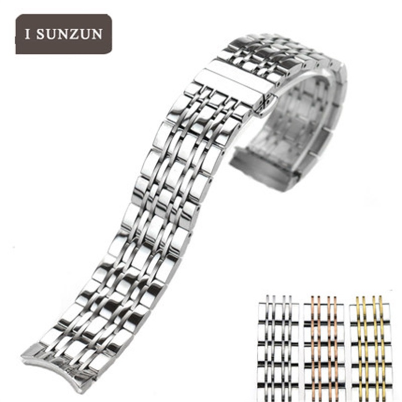 ISUNZUN High Quality Watch Band For Tissot Series T085 Chrismas Gift Whachband For Steel Strap Women 19MM Brand Watchband tissot t085 410 16 013 00