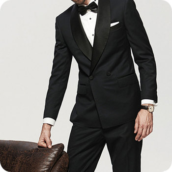 Latest Coat Pant Designs Black Wedding Men Suits Man Blazers Groom Tuxedos Double Breasted Classic Custume Homme Ternos 2Pieces