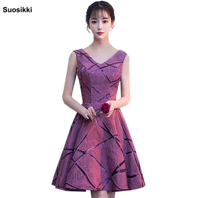 Short Cocktail Dresses 2018 Suosikki Lady Formal Party Dress Sexy Deeep V-neck Prom dresses Gowns Robe De Cocktail
