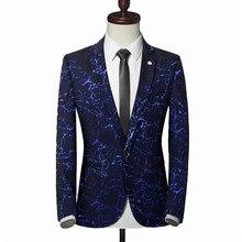 Blazers mens 2019 new high-end custom blazer business casual luxury gilding print wedding banquet clothing jacket