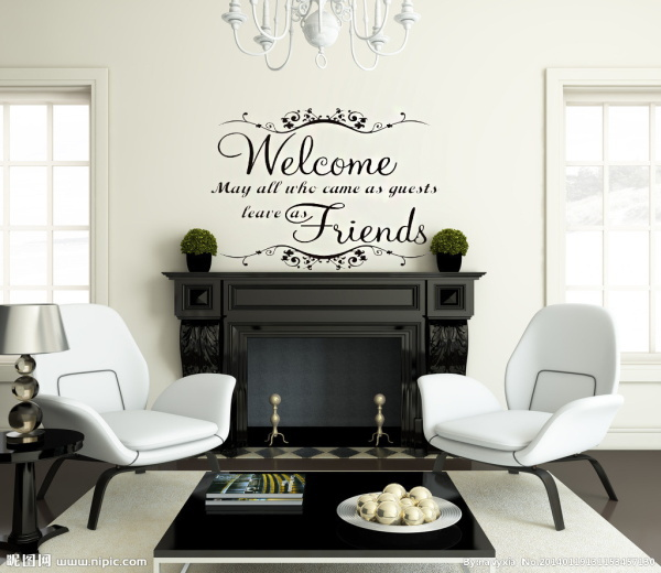 Classical welcome friends warm words wall stickers waterproofing home decor home decoration wall stickers vinyl wall stickers
