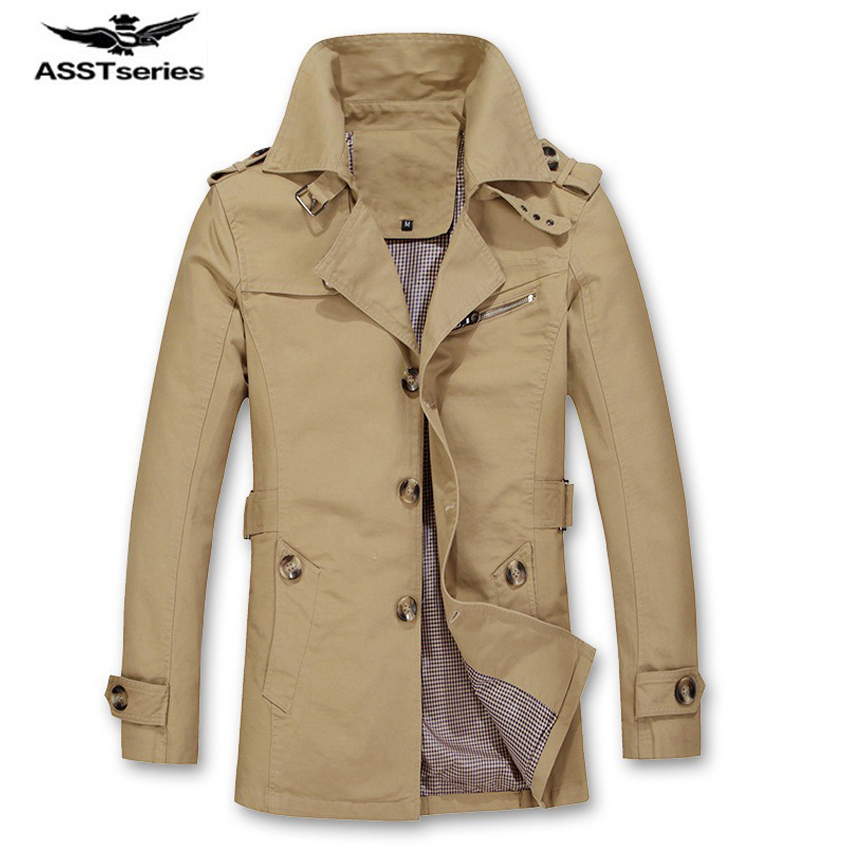 2017 New Arrival Trench Jacket Men Cool Design Casual Outwear Spring Autumn Mens Trench And Coats Fashion Clothing 85z