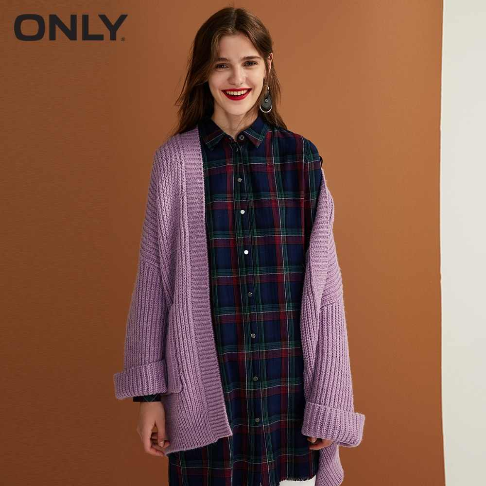 Только женский осенний Новый кардиган длинный свитер Женская манжета дизайн кардиган дизайн | 11833B504