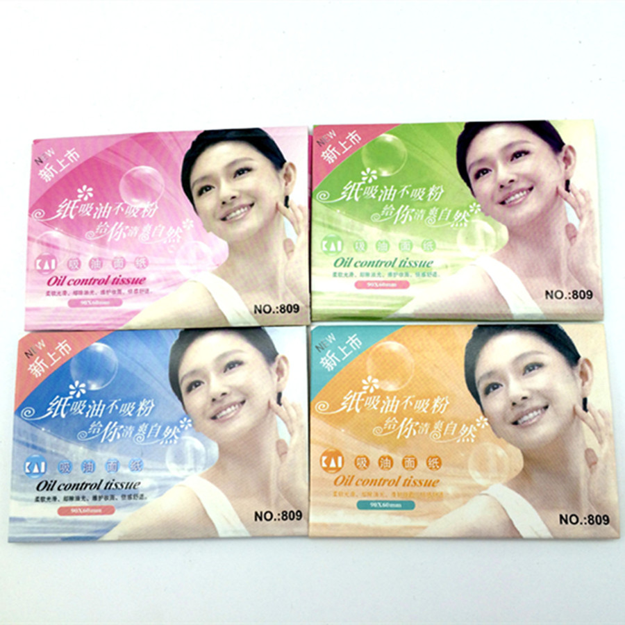 50 Pcs/ Bag New Facial Oil Blotting Paper Face Absorbing Oil Sheet Oil Control Film Face Clear And Clean  Random