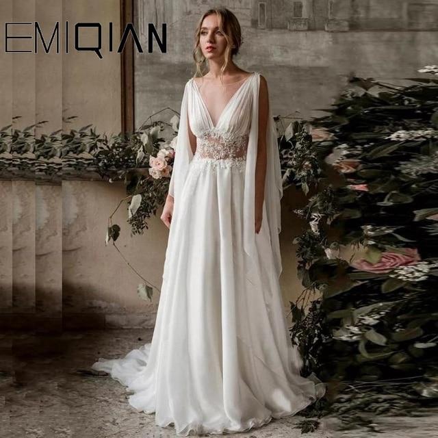 Boho Wedding Dress, Boho Dress, Ancient Greek Wedding Dress, Wedding Gown, Backless Bridal Dress 1