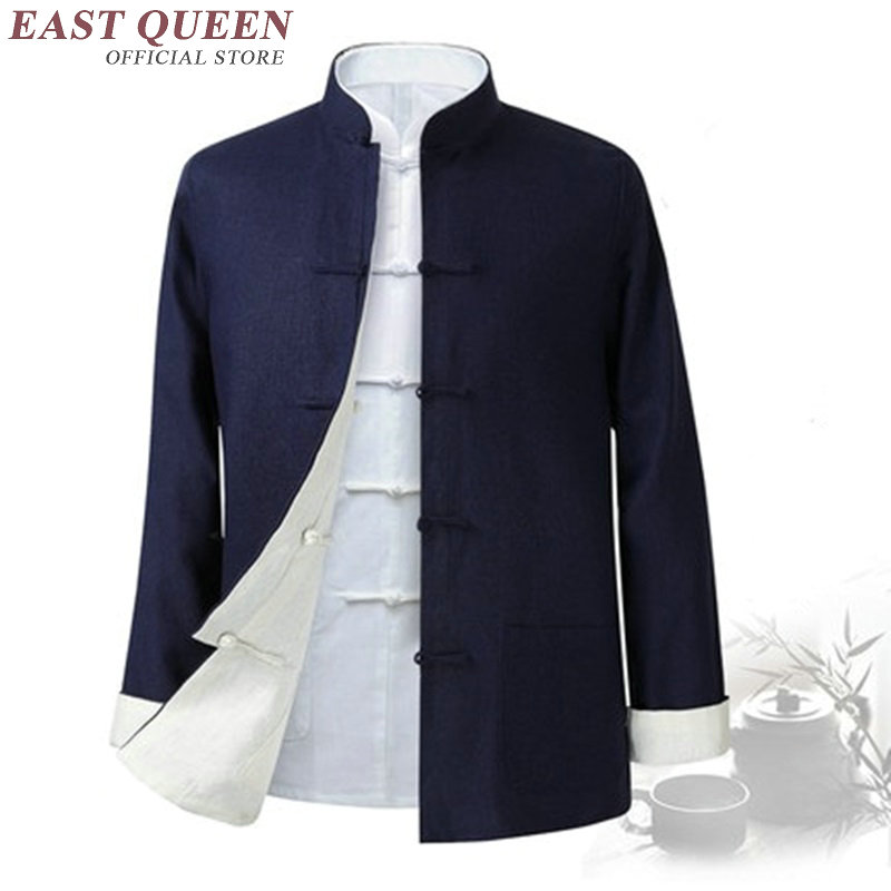 Traditional chinese clothing for men male oriental winter jacket for men wushu kung fu outfit clothing