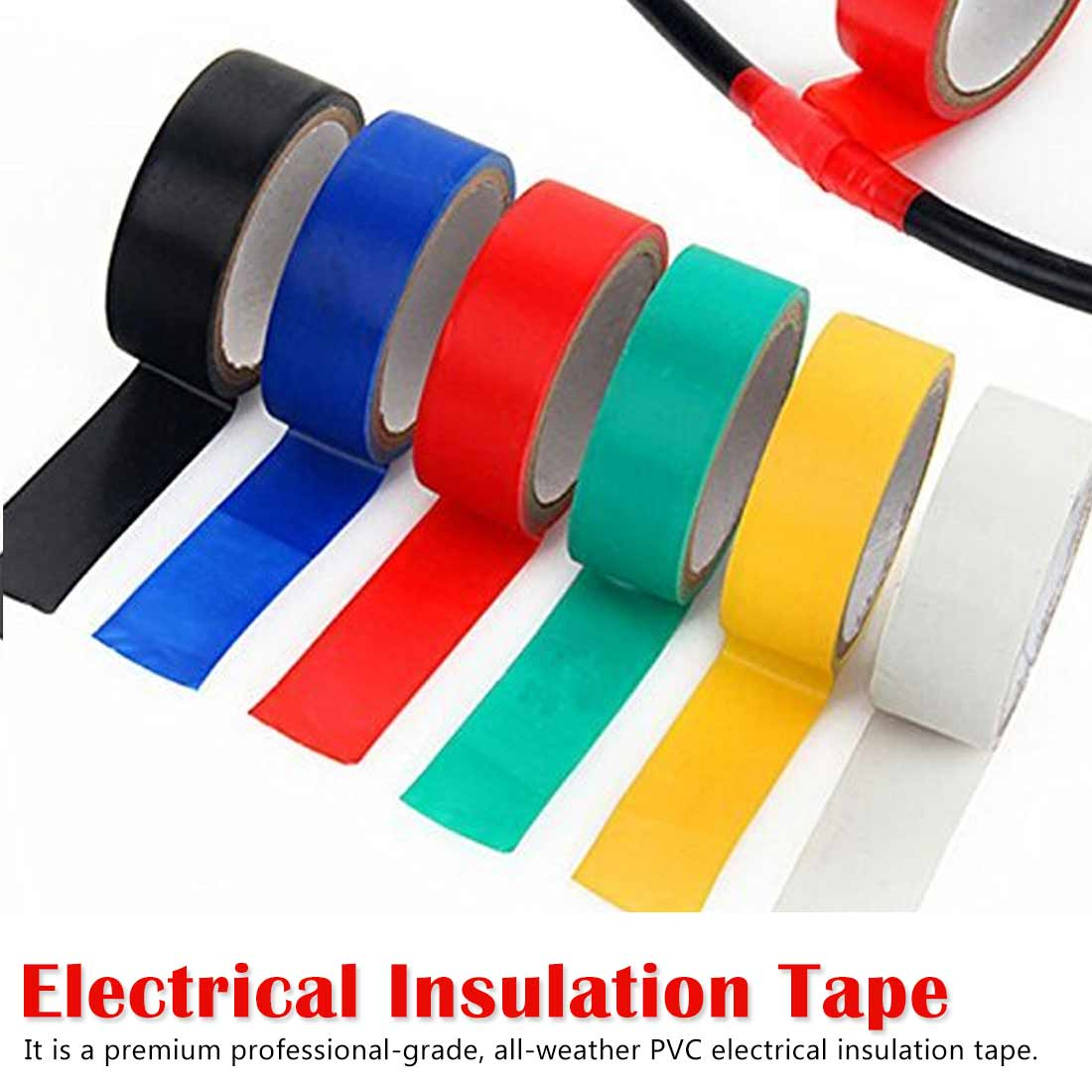 18mm PVC Electrical Tape Flame Retardent Insulation Adhesive Tape Waterproof High-temperature Tape Electrical Tools,Sealant