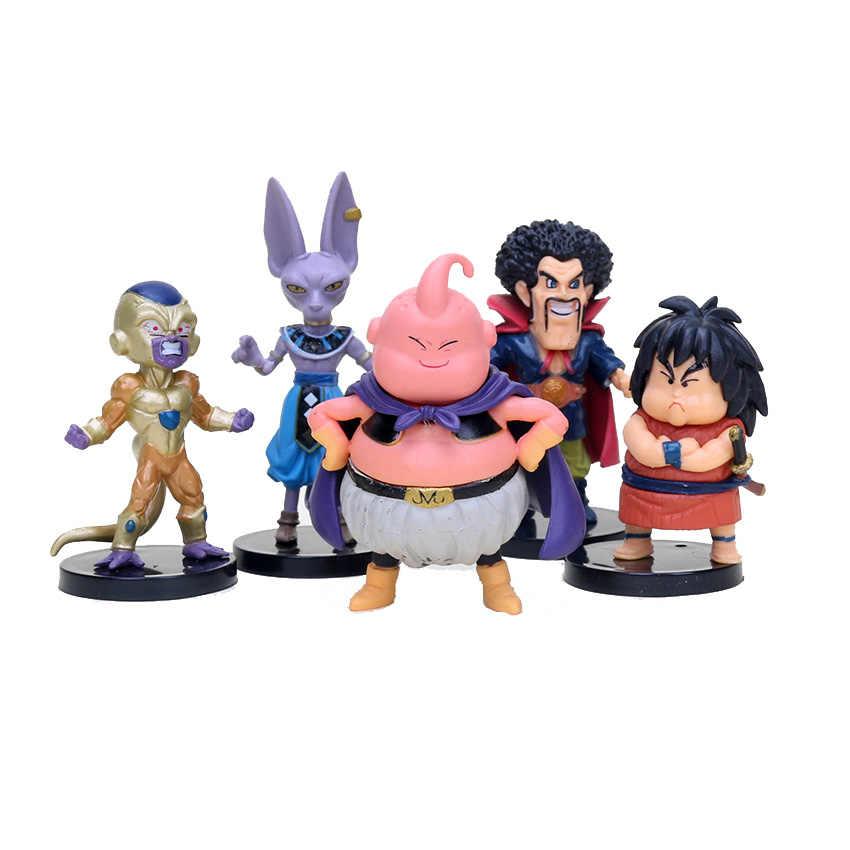 20 pçs/set Dragon Ball Z Super Saiyan Goku Buu Vegeta Freeza Beerus Ação PVC Figures Modelo Toy Em Saco