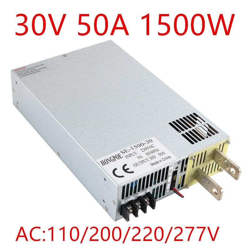 1PCS 1500W 30VDC 0-5V analog signal control 0-30v adjustable power supply 30V 50A power supply 30V 1500W SE-1500-30 20pcs lot ntd50n03r 50a 30v 12 5 milliohms to252