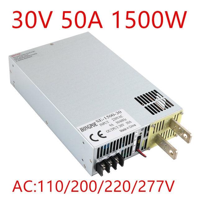 1PCS 1500W 30VDC 0-5V analog signal control 0-30v adjustable power supply 30V 50A power supply 30V 1500W  SE-1500-30