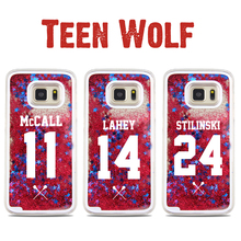For Samsung Galaxy S7 Case Teen Wolf TV Fashionable Red Liquid Quicksand STARS Case For Samsung Galaxy S6 S6edge S7edge