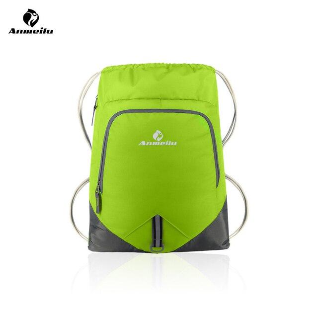 b458287b3a63 ANMEILU Foldling Ultralight Travel Backpack 12L Waterproof Nylon Drawstring  Bag For Shoes Swimwear Outdoor Hiking Sport Gym Bag