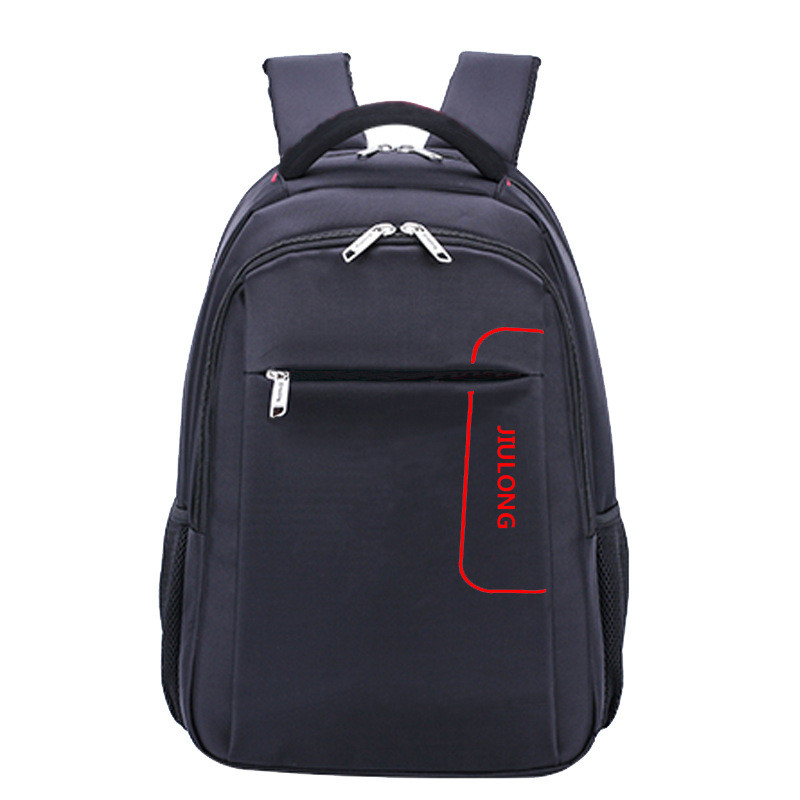 High school student Backpacks for teenager boys pure color schoolbag High capacity man travel bags with S double shoulder strap