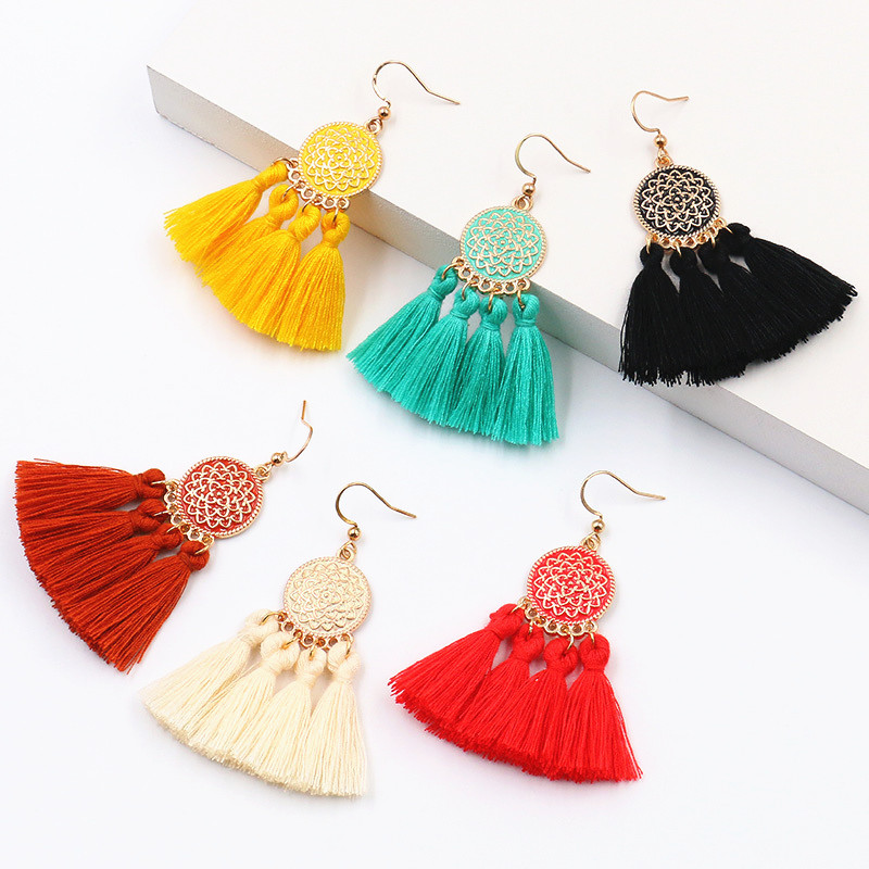 Handmade Earrings Bohemian For Women Boho Style Woman Dripping Tassel Earring Female Jewelry Bridal Fringed Long Earrinngs Gifts