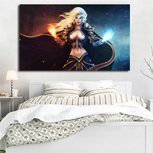 World Of Warcrafts Jaina Proudmoore Wallpapers HD Art Canvas Poster Painting Wall Picture Print Home Bedroom Decoration Artwork