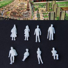 100 Pcs 1:100 Scale Unpainted White Model People Figure Train Passengers DIY Toy(China)
