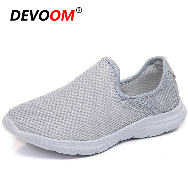 2019 Summer Mesh Walking Shoes Women Breathable Slip-on Flat Work Female Shoes Sneakers Women Sport Shoes Woman zapatillas <font><b>mujer</b></font> image